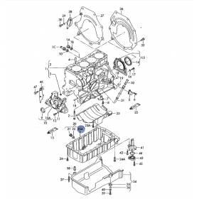 Bac à huile carter alu pour moteur avec emplacement sonde VW Sharan / Seat Alhmabra ref 038103603C