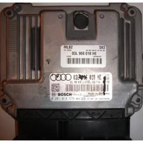 Calculateur injection moteur diesel pour Audi A4 ref 03L906018HE / Ref Bosch 0281018576