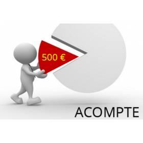 Acompte de 500 euros non remboursable pour réservation/commande de pièce automobile