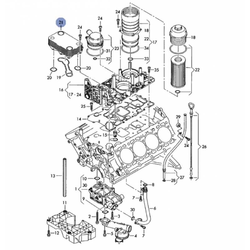 radiateur  refroidisseur d u0026 39 huile pour marine motore  audi a8  q7 4l2 v8 tdi ref 057117021m  sale