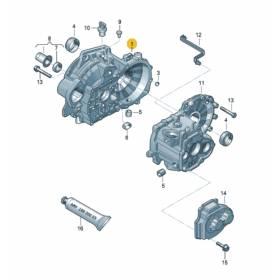 Carter d'embrayage alu pour Audi / Seat / VW / Skoda ref 0AF301107C