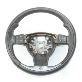 Black leather steering-wheel with airbag for Seat Leon 2 ref 5P0419091A / 5P0419091R / 1P0880201N / 1P0880201Q 1MM