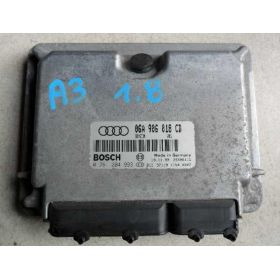 Calculateur moteur pour Audi A3 8L 1L8 125 cv AGN ref 06A906018CD / 06A997018DX / ref Bosch 0261204993