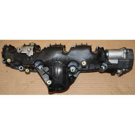 Collecteur / Ajutage d'admission avec volet régulateur pour Audi / Seat / VW / Skoda ref 03L129711AG / 03L129086