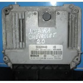 Calculateur injection moteur pour Chevrolet Lacetti / Nubira 2L TDCI ref 96820448HB / 0 281 013 600 / 0281013600