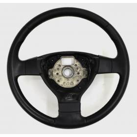 Black leather steering-wheel with airbag for VW Golf 5 1K0419091M