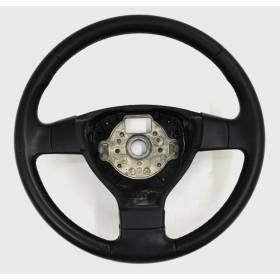 Volant cuir noir FR sans airbag pour VW Golf 5 ref 1K0419091M