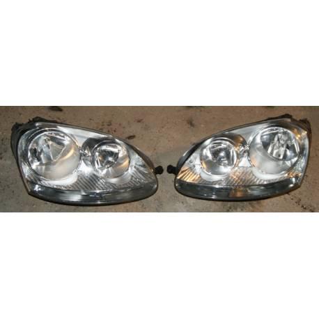 2 phares optiques avant pour VW Golf 5