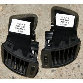 Lot de 2 grilles de ventilation pour VW Golf 5