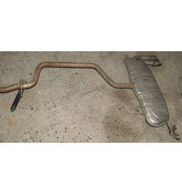 Exhaust line / Front silencer with rear silencer