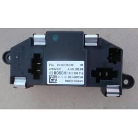Résistance de pulseur d'air / Ventilation Peugeot / Citroen ref 9654652480