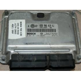Calculateur moteur pour VW / Skoda / Seat 1L9 TDI 130 cv ASZ ref 038906019KJ / ref Bosch 0281011216 / 0 281 011 216