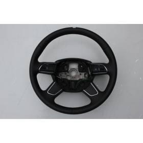 Volant cuir noir ajouré Audi Q7 ref 4L0419091AT / 4L0419091AL