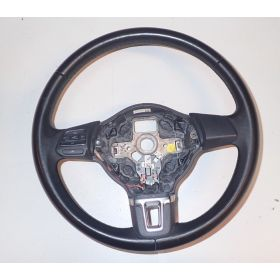 Black leather steering-wheel VW Polo 6R0419091F