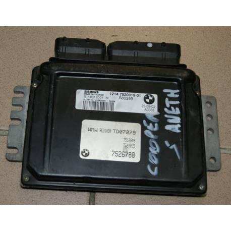 Engine control cooper S ref 1214 7520019-01 / S118012001M