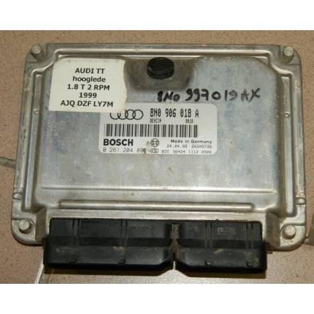Calculateur moteur pour Audi TT 1L8 turbo AJQ ref 8N0906018A / 8N0906018AX ref Bosch 0261204898 / 0 261 204 898
