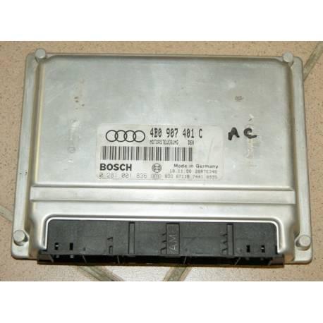 Calculateur moteur pour Audi A6 2L5 V6 TDI 150 cv ref 4B0907401C / 4B0907401AC / 4B0997401BX / ref Bosch 0281001836
