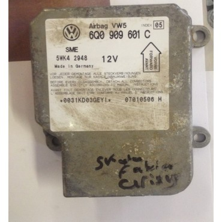 Calculateur d'airbag ref 6Q0909601C