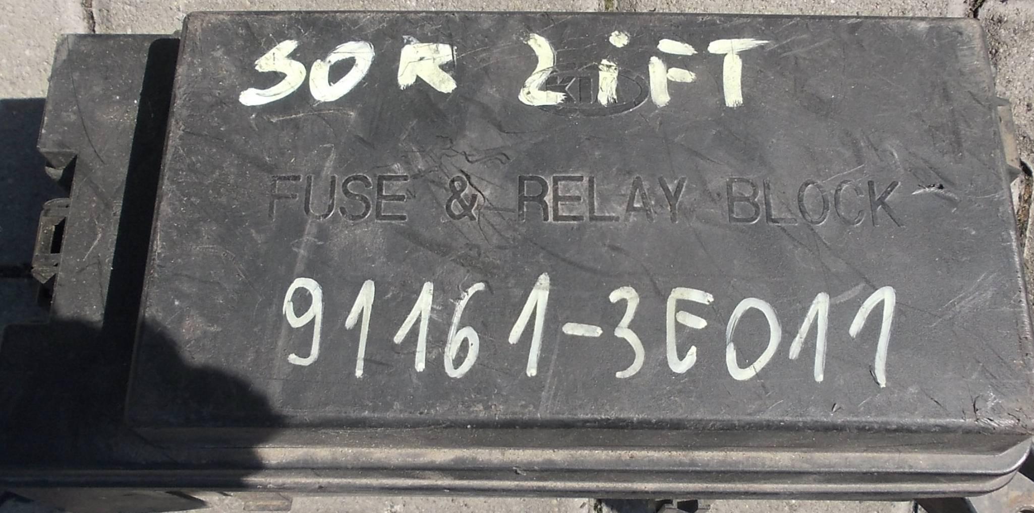 Fusible Modul Unit Box Kia Sorento 91161 3e011 Sale Auto Spare Part Fuse Cover On