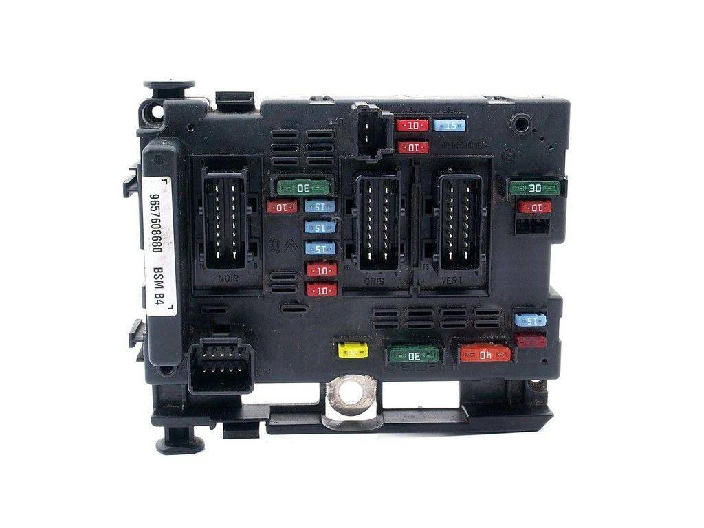 Fuse box module bsm peugeot 206 9657608680 b4, sale auto spare part on  pieces-okaz.com
