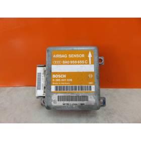 airbag dispositivo de control Unidad de control airbag AIR BAG AUDI A4 B5 8A0959655C ,0285001038
