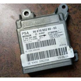 Calculateur d'airbag Peugeot 207 ref 9661890280 Bosch 0285001885