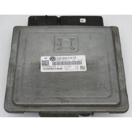 Calculateur moteur VW Passat 2L TDI 03G906018CK Siemens 5WP45602AA