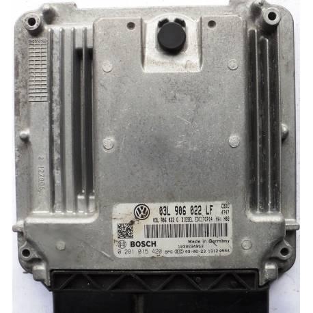 Calculateur injection moteur diesel ref 03L906022LF / 0281015420 / 0 281 015 420