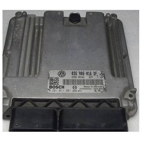 Calculateur moteur pour VW Golf 5 1L9 TDI 105 cv BKC ref 03G906016DF / Ref Bosch 0281 011 901 / 0281011901