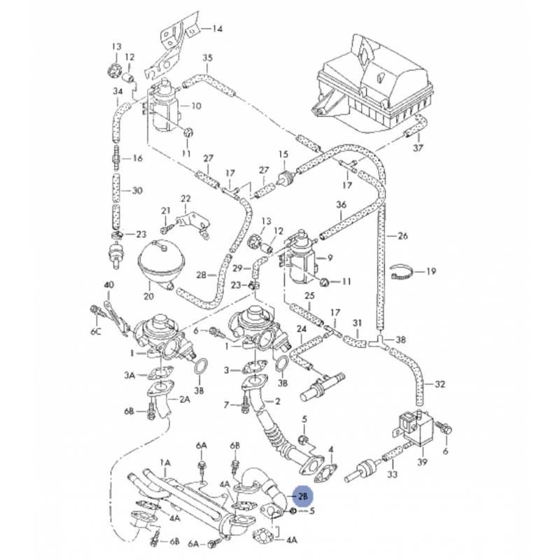 durite  tuyau de liaison pour 1l9 tdi ref 038131521e