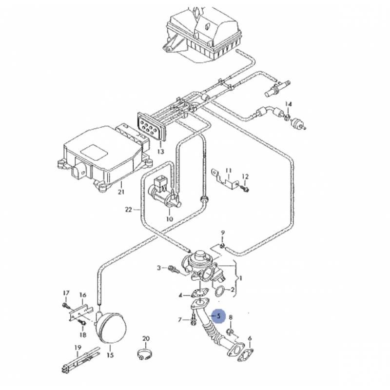 durite  tuyau de liaison pour 1l9 tdi 130 cv ref