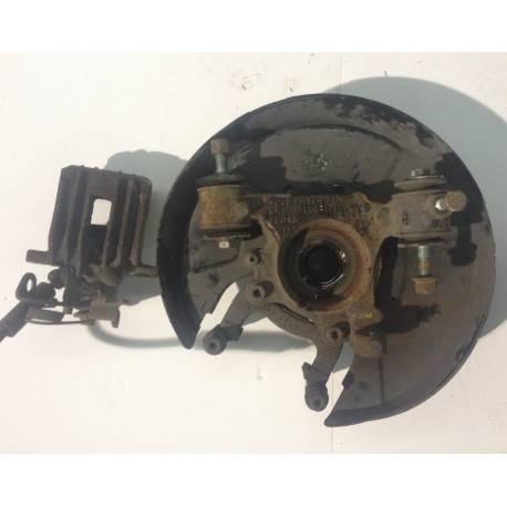 Fusée cache roulement arrière conducteur + étrier de frein pour Audi A6 Quattro ref 8E0505435P / 8E0615423A