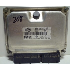 Calculateur moteur   VW Golf 4 / Bora 1L9 TDI 110 cv ASV ref 038906012AP / Ref Bosch 0281010126 / 0 281 010 126