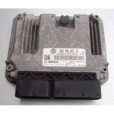 Calculateur moteur ref 03G906021SC / Ref Bosch 0281014422 / 0 281014422