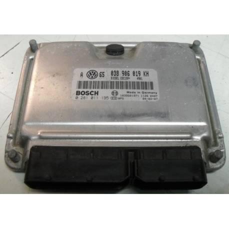 Calculateur moteur ref 038906019KH Ref Bosch 0281011195 / 0 281 011 195