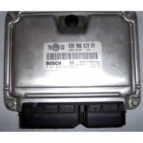 Calculateur moteur VW Passat 1L9 TDI 130 cv moteur AWX ref 038906019EH / Ref Bosch 0281010558 / 0 281 010 558