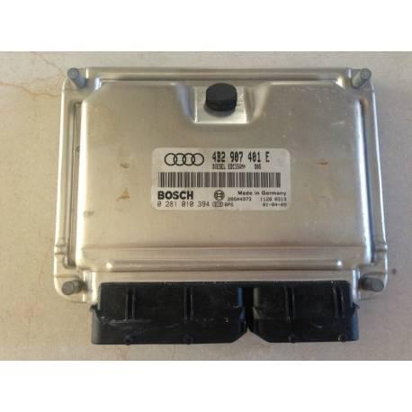 Calculateur moteur ref 4B2907401E / 4B2997401DX Ref Bosch 0281010394
