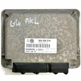 Calculateur moteur VW Golf 4 1L6 moteur AEH / AKL ref 06A906019 / Ref Siemens 5WP419003 / 5WP4 190 03