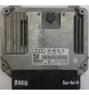 Calculateur moteur ref 03G906021CS / 03G997017MX Ref Bosch 0281012608 / 0 281 012 608