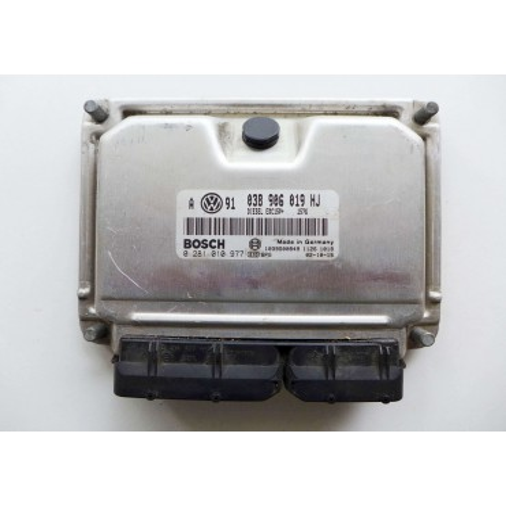 Calculateur moteur pour VW Golf 4 ref 038906019HJ Ref Bosch 0281010977 / 0 281 010 977