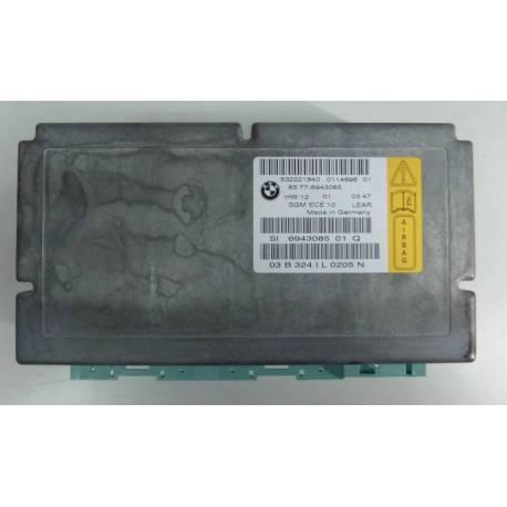 Calculateur module d'airbag pour BMW Série 5 E60, E61 ref 532221840 / 017040401 / 65.77-6943085