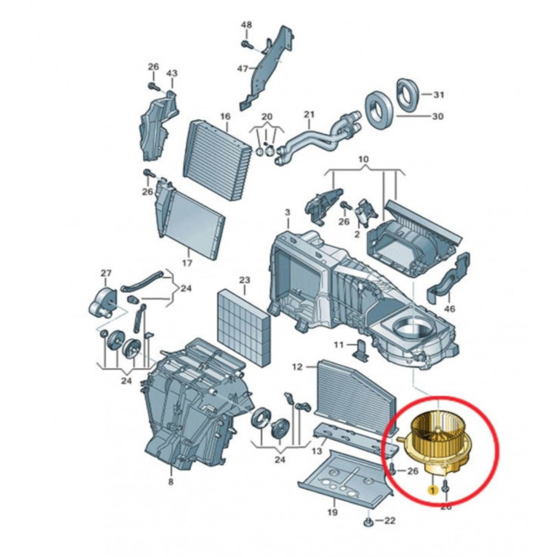 pulseur d 39 air ventilation ref 1k1819015 1k1819015a 1k1819015c 1k1819015e 1k1819015g. Black Bedroom Furniture Sets. Home Design Ideas