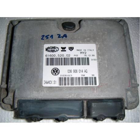 Calculateur moteur pour Seat Leon / Toledo 1L4 MPI moteur AHW ref 036906014AQ / Ref Magneti Marelli 61600.520.02