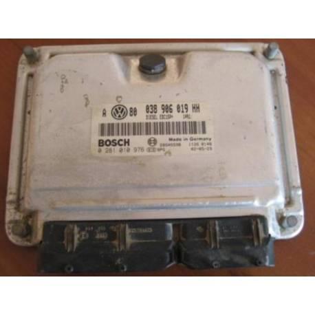 Calculateur moteur pour VW Golf 4 / Bora 1L9 TDI 150 Cv ARL ref 038906019HH  Ref Bosch 0281010976 / 0 281 010 976
