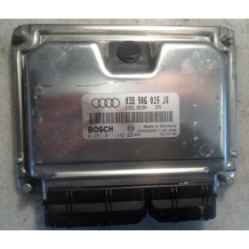 Calculateur moteur pour Audi A4 1L9 TDI 130 cv AWX ref 038906019JQ / 038997019FX / Ref Bosch 0281011142 / 0 281 011 142