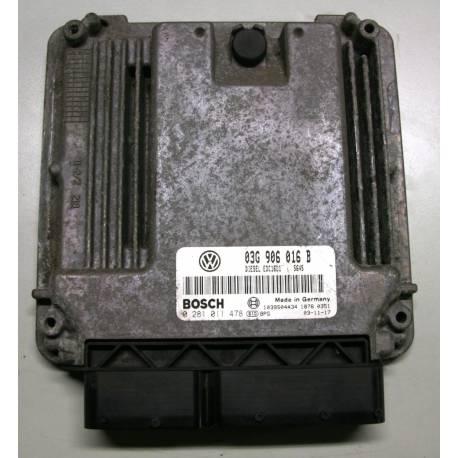 Calculateur moteur ref 03G906016B / Ref Bosch 0281 011 478 / 0281011478