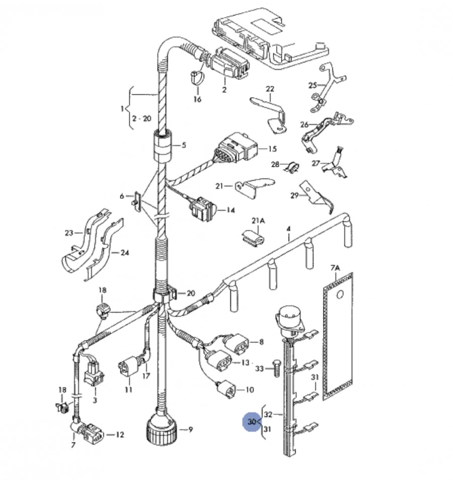 Vw Golf Mk4 2 0 Engine Diagram And Wiring 2636 Adapter Cable Loom 19 20 Tdi Sdi Ref 038971803 038971600 On