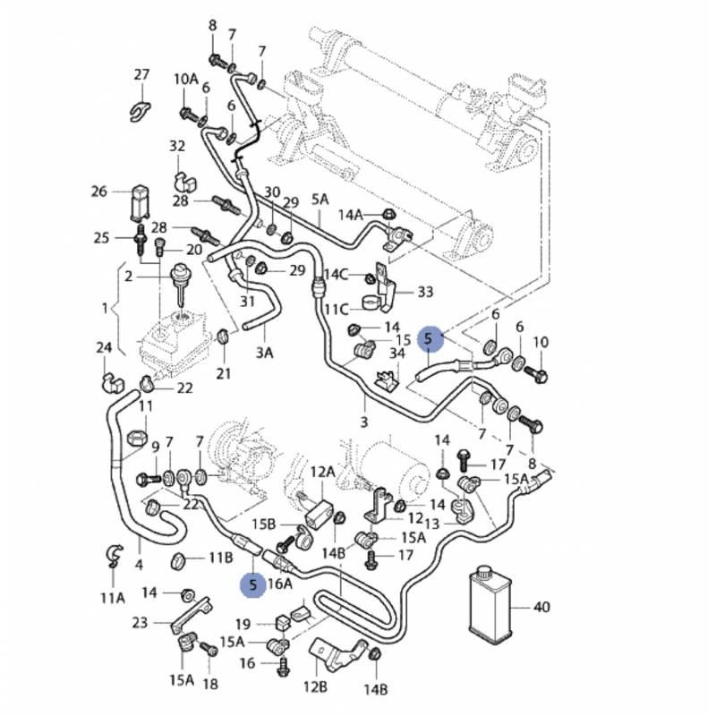 flexible d u0026 39 allonge de pompe  u00e0 ailettes vers m u00e9canisme de direction ref 1j0422893es