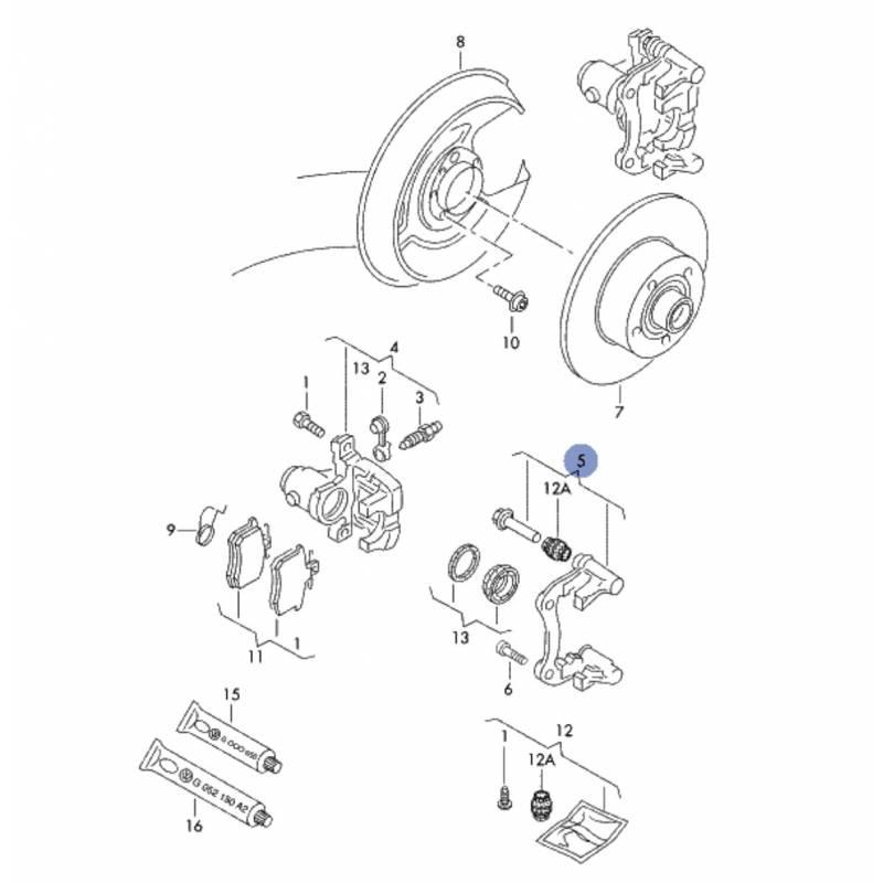 chape  plateau de frein avec pivot de guidage  support d