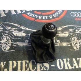 Pommeau + soufflet cuir pour boite 5 rapports pour Audi A4 ref 8E0863278CJ